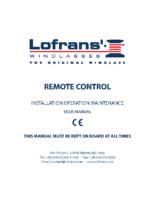 Lofrans Installation Remote control-bm