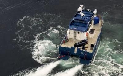 Samarbeidet mellom Hamilton vannjet og kontrollsystemet Blue Arrow, er det som skaper trygghet og sikkerhet for SJ Dykk